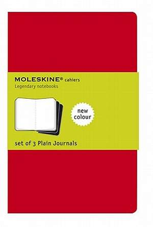 Diary Moleskine Cahier Pocket Plain Red Cover