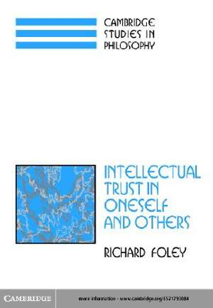 Intellectual Trust in Oneself and Others [Adobe Ebook]