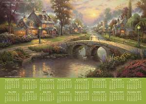 Thomas Kinkade Painter of Light 2014-15 16-Month Calendar Poster