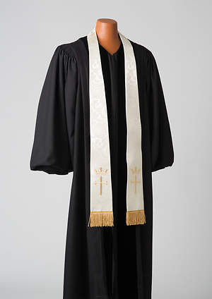 White Cross and Crown Stole
