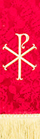 Red Stole with Chi Rho symbol