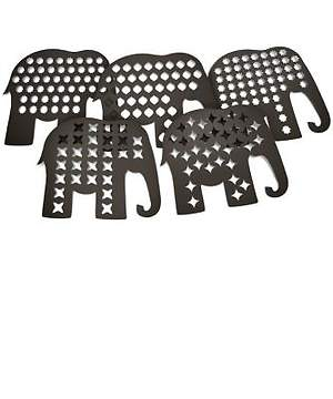 Group Cross Culture VBS 2015 Elephant Shadow Puppets (Pkg  5 sheets / 5 puppets per sheet)