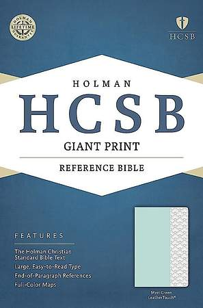HCSB Giant Print Reference Bible, Mint Green Leathertouch