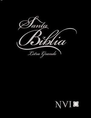 NVI Spanish Larger Print Bible with Concordance - Black Hb