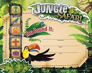 Standard VBS14 Jungle Safari Recognition Certificates (12)