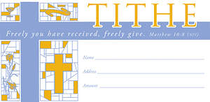 Tithe Offering Envelope Package of 100