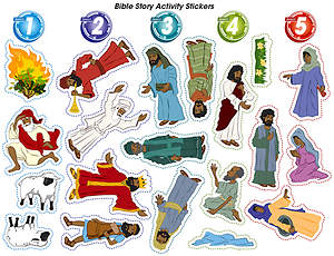 Vacation Bible School (VBS) 2015 G-Force Bible Story Activity Stickers