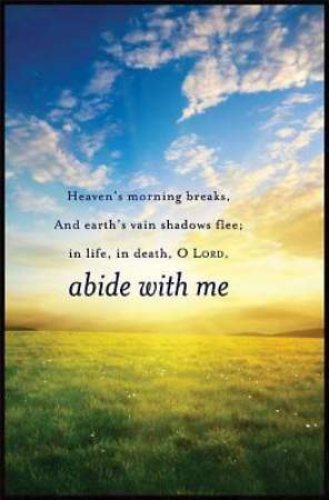 Abide With Me Hymn Bulletin, Regular Size (Package of 50)