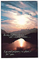 "Funeral-""My Father`s House…"" Bulletin, Regular Size (Package of 50)"