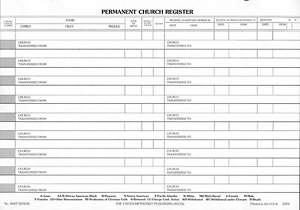 Permanent Church Register (Package of 50)