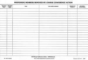 Professing Members Removed by Charge Conference Action (Package of 50)