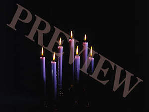 Download Still Tenebrae Candles with Black Background