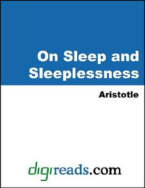 On Sleep and Sleeplessness [Adobe Ebook]