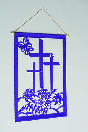 Easter Liturgical Wall Hanging Kit BLUE - 24X36
